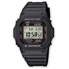 CASIO+G-Shock+GW-M5610-1+Orologio+Digitale+Solare+Radiocontrollo Style Sportif, Casio G Shock, Casio Watch, Accessories, Resin Bracelet, Black Bracelets, Analog Signal, Boutique Online Shopping