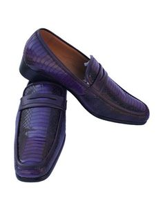 SKU#AP274 Mens Slip-On Style Casual Purple ~ Eggplant ~ Plum Leather Dress Shoes