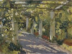 http://www.artsbreath.com/images/painting/Sun-Dappled-Garden-With-Trellis-2-Landscapes-Oil-Painting-AB00658.jpg