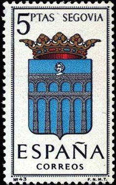 Znaczek: Provincial Arms - Segovia (Hiszpania) (Coat of Arms of the provincial capitals) Mi:ES 1556,Yt:ES 1326,Edi:ES 1637