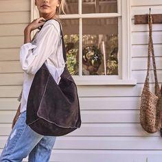 Peet Suede slouch bag #bag #boho #boho-bag