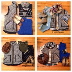 Herringbone vest, fall styles