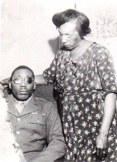 BEATEN AND BLINDED FOR USING THE BATHROOM On February 13, 1946, black WWII veteran Isaac Woodard, Jr. was beaten until his eyeballs ruptured by two cops in Batesburg, South Carolina. The attack left Woodard completely and permanently blind. His assailants were acquitted on all charges. .