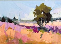 Nearby Field by Trisha Adams Oil ~ 6 x 8