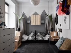 Grey kids bedroom