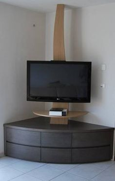 Living room tv wall decor tv nook 30 ideas for 2019 Corner Tv Stands, Corner Tv Unit, Corner Wall, Corner Tv Table, Tv Cabinet Design, Tv Unit Design, Tv Wall Design, Tv Design, Tv Unit Furniture