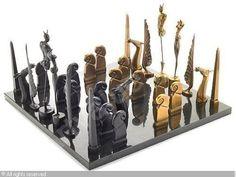 paul lobel chess set | WUNDERLICH Paul,Chess set,Bonhams,Los Angeles