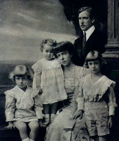 The Cross of Laeken: Belgium's King Albert I and Queen Elizabeth (Bavaria) with their three children, Leopold, Charles and Marie-Jose.