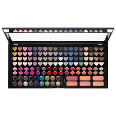 Shop Sephora Collection's Beautiful Crush Makeup Palette at Sephora. This makeup palette boasts an amazing 128 eye, lip, and cheek colors. Make Up Palette, Pallette, Eyeshadow Palette, Shimmer Eyeshadow, Make Up Kits, Sephora Makeup, Makeup Cosmetics, Best Makeup Palettes, Professional Makeup Kit