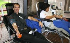 Principal Fr. Patrick Fulton, CSB at annual #STH student blood drive.  To know more visit sths.org.  Eagle Fight Never Dies!