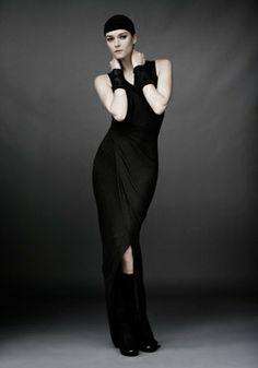 Long High Neck Dress (carbon)  Morph Cuff (ebony)