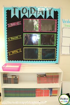 Focus Board to display daily standards and objectives.