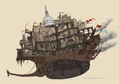 Mortal Engines - London by ~DragonLady4 on deviantART