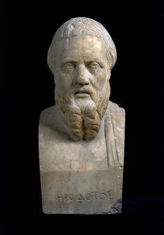 Herodotus, of Halicarnassus (Bodrum) Roman bust (marble), copy after Greek original, ? (original 4th c. BC), (Museo Archeologico Nazionale, Naples).