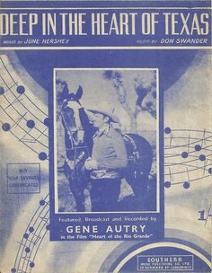 1941 sheet music  Gene Autry and hisi horse on the cover