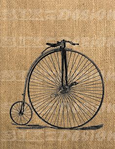 Vintage Bycicle Digital Collage Sheet Printable by SixByDesign, $1.00, via Fleur Artefleur