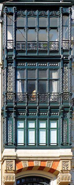 Windows in Bilbao. Basque Country