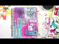 ©Carolyn Dube - Video Tutorial Random Gelli printing created the rich background for this art journal page and I am again reminded of how important it is to have a rich foundation when creating. All my color choices came from the Gelli play! http://acolorfuljourney.com/?p=8799