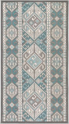 Rugpal mimi contemporary area rug collection Runner in Teal (Blue) Color Folk Embroidery, Cross Stitch Embroidery, Embroidery Patterns, Cross Stitch Patterns, Diy Carpet, Rugs On Carpet, Carpet Ideas, Blackwork Cross Stitch, Rugs