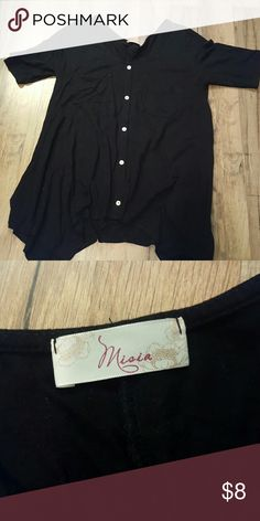 Black Pocket Button Detail Tunic Great used condition. Incredibly soft and goes with just about anything! Tops Tunics