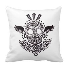 Rest your head on one of Zazzle's Skull decorative & custom throw pillows. Skull Pillow, Decorative Throw Pillows, Ethnic, Vintage, Accent Pillows, Decorative Pillows