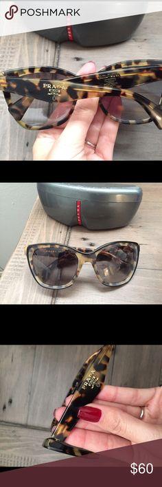 87be03c12114 Prada sunglasses tortoise shell Beautiful Pradas! Originally bought at  Nordstrom. Missing one tiny piece
