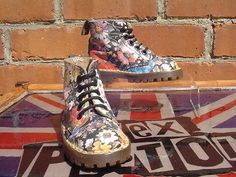 Rare Dr Martens Floral Illusion *Meadow Flowers* UK 6 Kids Hippy Sienna Miller