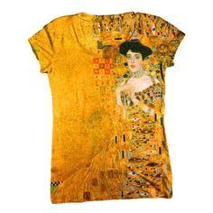 "ArtsyClothingCo-""Gustav Klimt Art Womens Top - Classical - Romantic C-Neck T-Shirt Top: Clothing Art Teacher Outfits, Teacher Wardrobe, Teacher Style, Teacher Clothes, T Shirt Art, Wear To Class, Textiles, Gustav Klimt, Elementary Art"