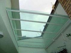 fachada de corredor externo coberto com policarbonato - Pesquisa Google