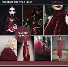 FASHION VIGNETTE: TRENDS // PANTONE COLOR OF THE YEAR 2015 - MARSALA