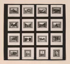 [Fotografien von Briefmarken, die von Kolo Moser entworfen wurden]   Moser, Koloman