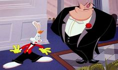 Artwork from the abandoned Roger Rabbit short, Hare in my Soup