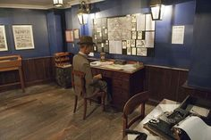 Visitors can see a model of a detective trying to solve the grisly murders at the Whitechapel museum