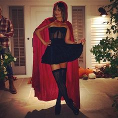 Lea Michele: Lea Michele went for a sexy Little Red Riding Hood look in 2014.