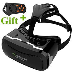 3D VR Glasses Tsanglight 3D Virtual Reality Headset with Remote ControlRechargeable for 4560inches IOS iPhone 7 6S PlusAndroid Samsung Galaxy S7 S6 Edge PlusPC Smartphones for 3D Movie ** You can get more details by clicking on the image.Note:It is affiliate link to Amazon.
