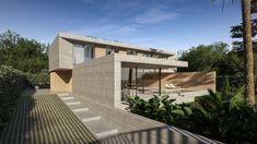 JAIME SALVÁ, Arquitectura  Interiorismo - J776 CREU 65. ENVY Concrete Facade, Concrete Design, Building Companies, Interior Design Studio, Interior Architecture, Villa, House Design, Mansions, House Styles