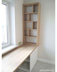 В типовых квартирах окно, как правило, наход. Home Office Space, Home Office Design, Home Office Furniture, Home Office Decor, Home Interior Design, Furniture Design, Home Decor, Kitchen Interior, Trendy Home