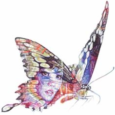 Jane Lee McCracken - Butterfly Lover Zhu Yintai (€64) ❤ liked on Polyvore featuring home, home decor, wall art, butterflies, animals, art, backgrounds, filler, detail and effect