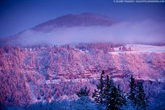 snow in the mountains pictures | Sunrise on Underwood Mountain | Beautiful Hood River | hood river ...