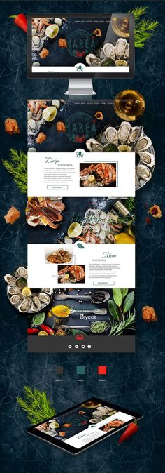 restaurant website Website for Seafood Place Best Restaurant Websites, Restaurant Website Design, Restaurant Website Templates, Website Design Layout, Website Design Company, Web Layout, Layout Design, Webdesign Inspiration, Website Design Inspiration