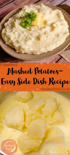 Flawless Mashed Potatoes, an easy British family favourite side dish. How to make the best mash, with this simple homemade recipe. Boiled potatoes mixed with your choice of butter, cream, milk or a combination of them! You choose how you like them from just smashed, slightly lumpy or a smooth puree. Perfectly creamy tatties for all to enjoy. Can be made ahead, perfect comfort food with roast dinners, meat and fish.