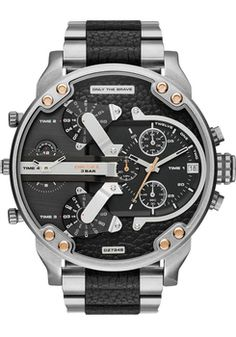 d88a970df2f3 Diesel Mr. Daddy 2.0 Stainless Steel- Silver Dream Watches