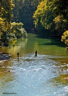 Fishing in Penios river, Larissa