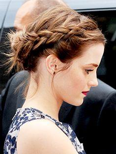 Emma Watson + Braids