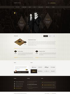 """This is contest project for law firm. I decided to design layout which represent fictional firm Specter & Ross (characters from TV series """"Suits""""), . Specter and Ross - Web design for law firm Lawyer Website, Law Firm Website, Website Company, Website Layout, Web Layout, Layout Design, Best Web Design, App Design, Website Design Inspiration"""