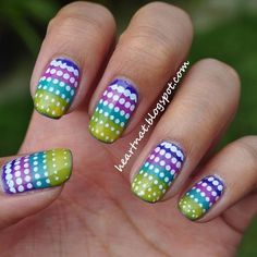 Easter nail art - MSN Living (gradient dotticure featured in pic)