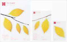 Leaf-shaped sticky notes