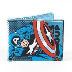 Marvel Captain America Official Licensed Fat Free Ultra Slim Bifold Wallet