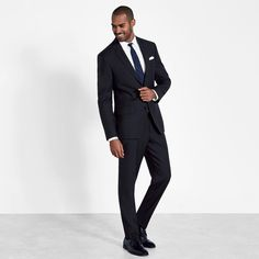Our black suit is perfect for when the event is too formal for a colorful suit but a full-on tux is too much. Online suit rentals from The Black Tux. Celebrity Wedding Photos, Celebrity Weddings, Black Tux, Black Suits, Wedding Men, Wedding Suits, Groom Outfit, Dress Codes