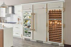 See Through Refrigerator, Glass Door Refrigerator, Refrigerator Freezer, Refrigerator Storage, All White Kitchen, Diy Kitchen, Kitchen Interior, Kitchen Design, Kitchen Decor